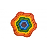 Q TOYS | Wooden Rainbow Flowers