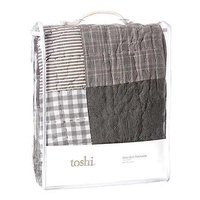 TOSHI | Patchwork Quilt Charcoal