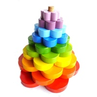 QTOYS | Wooden Stacking Flowers