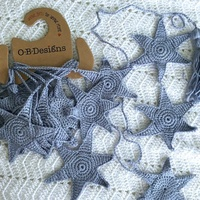 O.B DESIGNS | Crochet Starfish Bunting Blue