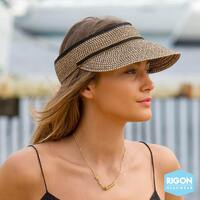 RIGON | Cosmopolitan Ladies Visor - Black/Tan