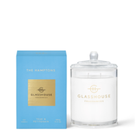 GLASSHOUSE | Scented Candle - The Hamptons - Teak & Petitgrain 380g