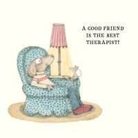 TWIGSEEDS | Card - A Good Friend Is The Best Therapist