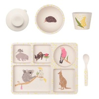 LOVE MAE | Bamboo Divided Plate Set - Australiana