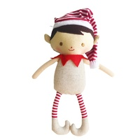 ALIMROSE | Cheeky Boy Elf Rattle - Linen