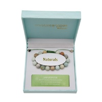 CRYSTAL CARVINGS | Amazonite Natural Stone Bracelet Adjustable
