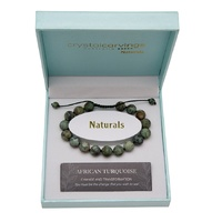 CRYSTAL CARVINGS | African Turquoise Natural Stone Bracelet Adjustable