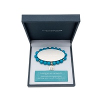 CRYSTAL CARVINGS | Tree of Life Bracelet - Turquoise Howlite