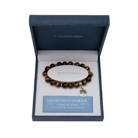CRYSTAL CARVINGS | Golden Blue Tiger Eye Tree Of Life Bracelet