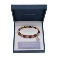 CRYSTAL CARVINGS | Tree of Life Charm Bracelet - Mookaite Jasper