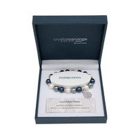 CRYSTAL CARVINGS | Bracelet - Tree of Life Cultured Pearl (White, Grey, Blue)