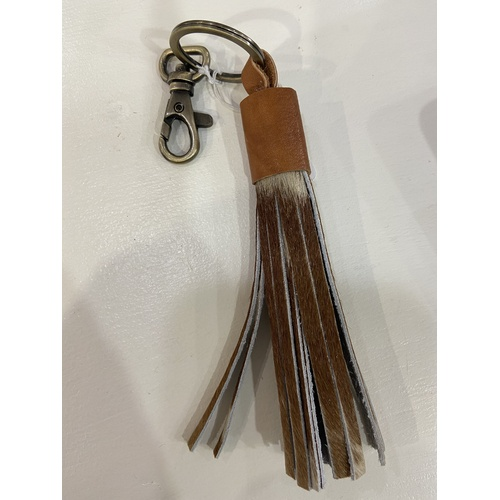 Bali Tassel - Jersey Hairon & Tan Leather
