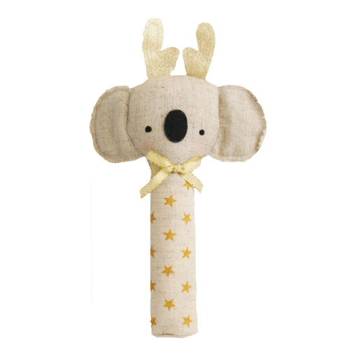 ALIMROSE | Koala Squeaker with Antlers Gold Star
