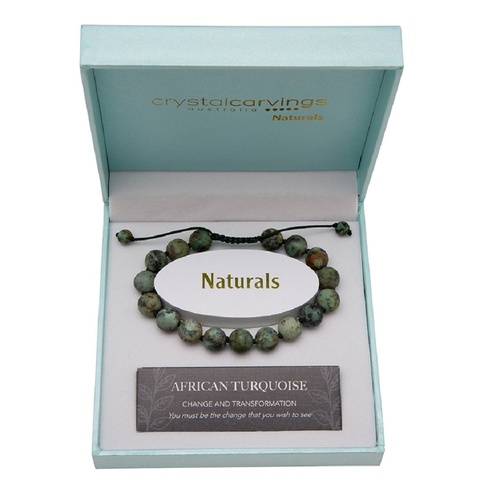 CRYSTAL CARVINGS | Bracelet - African Turquoise Natural Stone